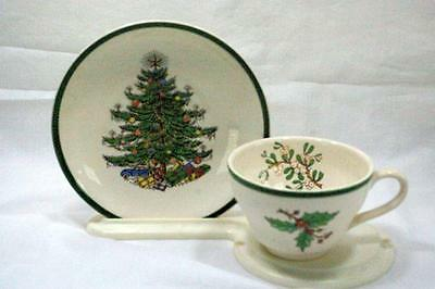 Plummer New York Christmas Tree Cup And Saucer