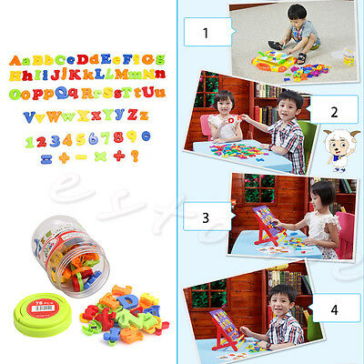 Teaching Kid Set Of 78 Magnetic Capital & Lowercase Alphabet Letters Numbers Toy