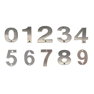 JMA Door House Number #0-9 85mm Numeral Visible Fix 304 Grade Stainless Steel