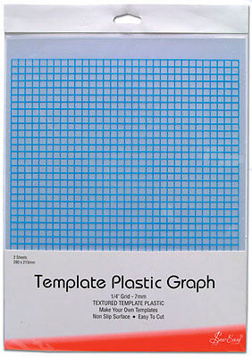 Sew Easy ER397 | Plastic Printed Graph Template 7mm Grid | 280 x 215mm 2 sheets