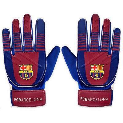FC Barcelona Official Football Gift Kids Youths Goalkeeper Goalie Gloves