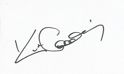 A 5 x 3 inch white card. Personally signed by Rugby League player Kurt Gidley.