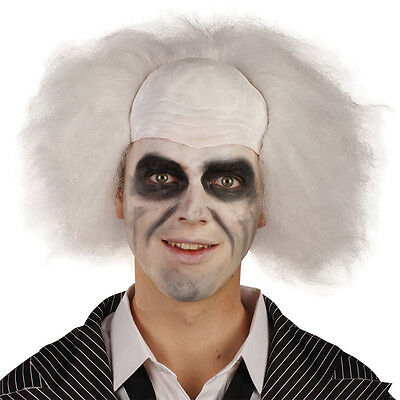 Crazy Guy White Wig Beetlejuice Adult Horror Halloween Accessory