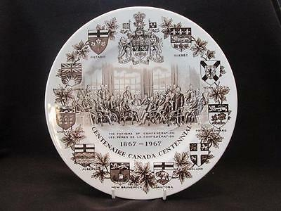 "Fathers of Canadian Confederation 1867-1967 Centennial Wood & Sons 10"" Plate"