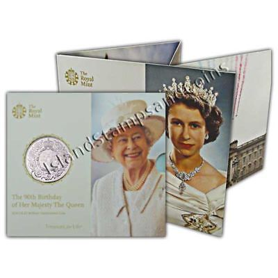 The Queens 90th Birthday 2016 UK �5 BU Coin
