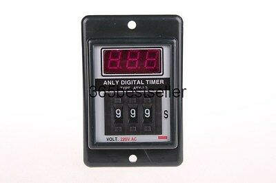 AC 220V Power ON Delay Timer Time Relay with socket QC