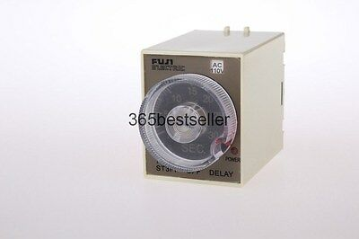 12V DC Power Off Delay Timer Time Relay 0-60 Second 60S ST3PF & Base