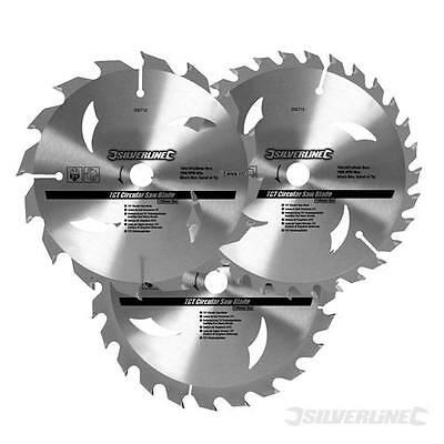 TCT Circular Saw Blades 3pk. 160 x 30 - 20, 16, 10mm rings  436755