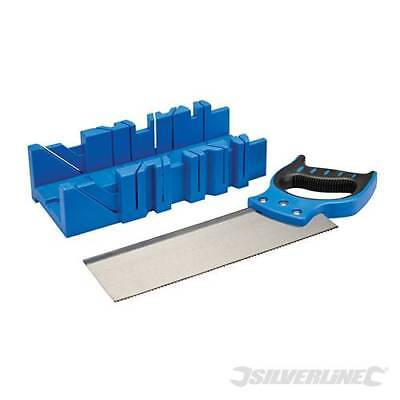 Mitre Box & Saw 300 x 90mm 90°, 45° ,22.5° cutting angles +45° side angle 335464
