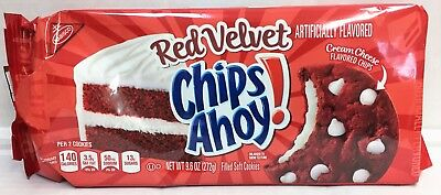 Nabisco Chips Ahoy Red Velvet Filled Soft Cookies 9.6 oz