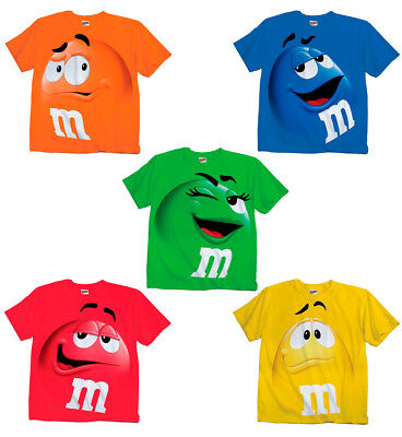 Adult & Youth Kids M&M's M&M Face Chocolate Candy Costume T-Shirt Tee M M shirt