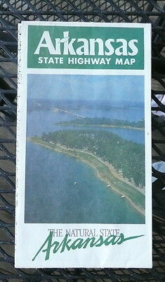 1989 Arkansas official highway road map