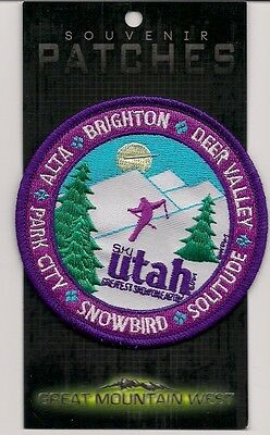 Ski Utah Greatest Snow On Earth Souvenir Patch - Skiing, Snowboarding