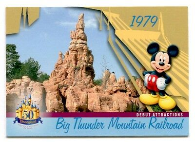 Big Thunder Mountain RR Disneyland 1979 Attraction 50 Years Trading Card # DL-42