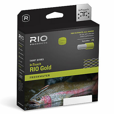 RIO InTouch Gold Weight Forward Floating Fly Fishing Line With Welded Loops