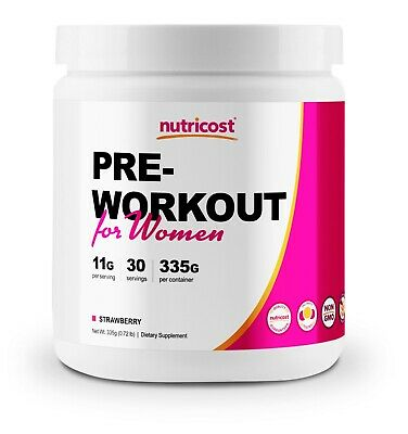 Nutricost Pre-Workout for Women (30 Serv) (Strawberry) - Powerful Energy