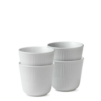 White Fluted Thermobecher 4er Set 26 cl Royal Copenhagen