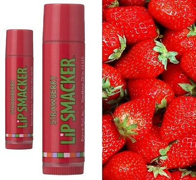 Lip Smacker Strawberry Smoothes and Moisture New