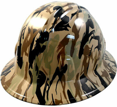 Hydro Dipped FULL BRIM Hard Hat with Ratchet Suspension - Camo Bootie Tan 583b687a827c