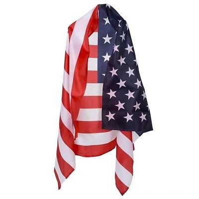 5' X 3' Patriotic American Flag Usa Red White Blue Cape Fourth Of July 4Th