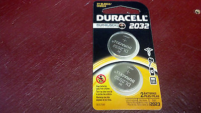 Duracell, Battery, Coin Cell, 2032, Dl2032, Cr2032, Lithium, 3 Volt, 2 Pack