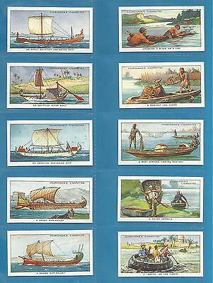 Churchman cigarette cards - THE STORY OF NAVIGATION - Full set
