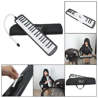 37 Piano Keys Melodica Pianica with Carrying Bag for Student Kid Gift Black F6J4