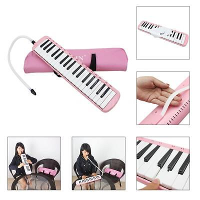 37 Piano Keys Melodica Pianica with Carrying Bag for Student Kid Gift Pink B2C5