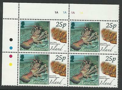 Ascension 2008 Animals Eggs Spiny Lobster Top Left Corner Block Of Four Mnh