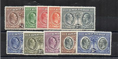 Cayman Islands 1932 Justices values to 2s MLH