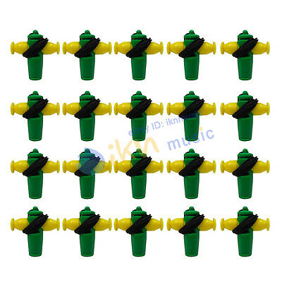 NEW Set of 20pcs Wind Instrument Samba Whistles Yellow Green Color