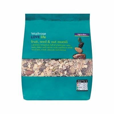 Muesli Fruit, Seed & Nut Waitrose Love Life 750g