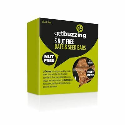 GetBuzzing Nut Free Date & Seed Bars 3 x 62g