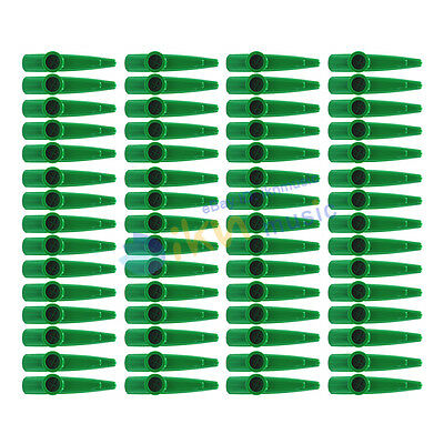 NEW Set of 60pcs Green Color Kazoos Children Toys Plastic Material
