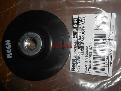 "Keen Abrasives 4"" Backing Pad For Resin Fiber Discs 5/8"" X 11 Thread Size"