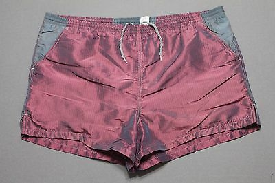 L * vtg 90s BODY GLOVE metallic short swim trunks / shorts