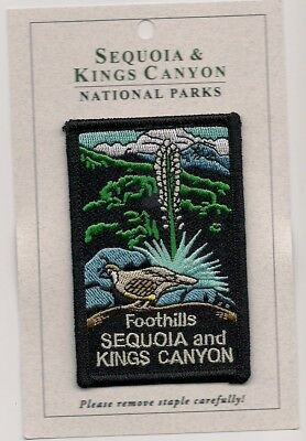 Sequoia and Kings Canyon National Parks Souvenir Patch Foothills