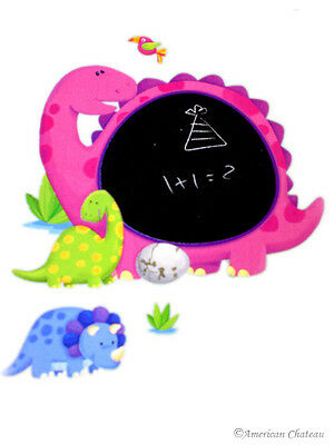 Dinosaur Kids Wall Sticker Peel & Stick Dinosaurs Dino Blackboard Room Art Mural