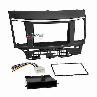Single Double Din Car Stereo Dash Kit Harness for 2007-2013 Mitsubishi Lancer