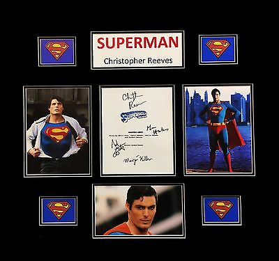 Superman Christopher Reeves 4 Signature Signed Movie Script