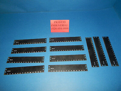 Lot of 11 Cinch MS-14-141 Terminal Block Marker Strip No.1-14 MS14141