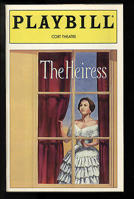 The Heiress Cort Theatre Playbill 1995 NYC Patricia Conolly Cherry Jones FN+