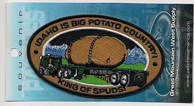 Large Souvenir Patch State Of Idaho