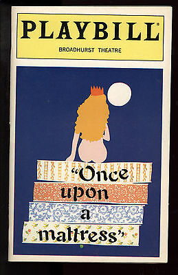 Once Upon A Mattress Broadhurst Theatre Playbill 1996 Sarah Jessica Parker FN