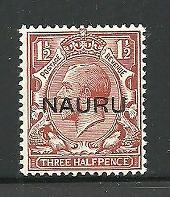 Album Treasures Nauru Scott #  3  1 1/2p  George V Mint LH