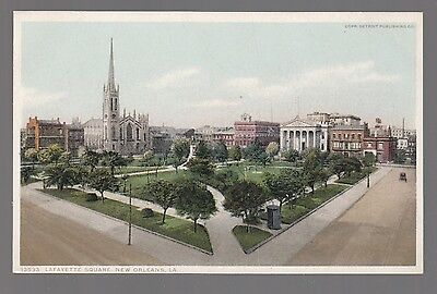 [60504] Old Postcard Lafayette Square In New Orleans, Louisiana