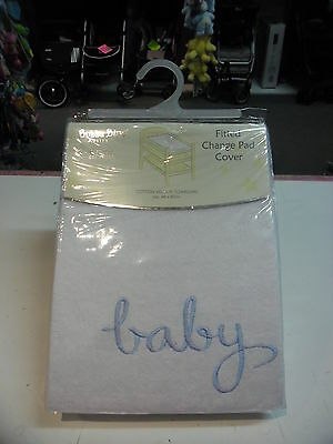 New Bubba Blue White  baby changetable mat covers 'Blue Baby'
