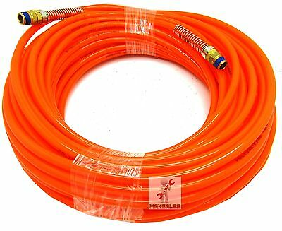 "100ft x 1/4"" Orange Air Compressor PU Hose Roofing Framing Carpentry 1/4"" NPT"