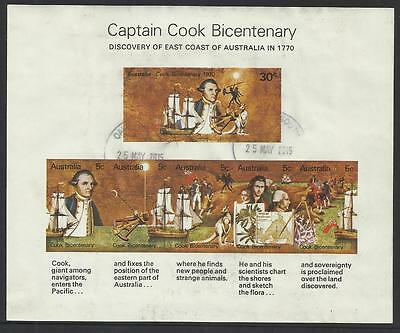 AUSTRALIA 1970 CAPTAIN COOK Souvenir Sheet - Postally USED