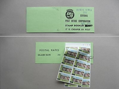 GUYANA, booklet1984 MNH, revalued overprinted Olympic Games ao boxing